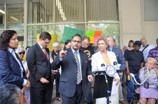 State Senator Jose Serrano discoursing